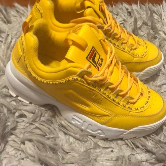 fila yellow sneakers